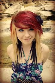 Hairstyle For Girls 61 Awesome Emo Black And Blonde Hairstyles AHA Beauty
