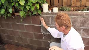Paint Cinder Block Wall Repair A Structural Crack In Cinder Block Wall Just An