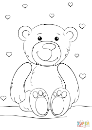 Small Picture Coloring Pages Free Printable Teddy Bear Coloring Pages Children
