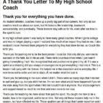 Thank You Letter To Coach Pertaining To Thank You Letter To Coach ...