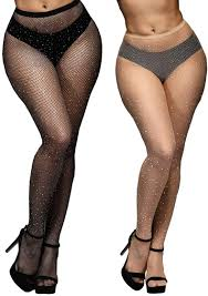 Anlaey Fishnet Tights Leggings Rhinestone Fishnets Pantyhose Fish Nets  Stockings Women at Amazon Women's Clothing store