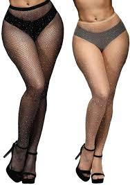 Anlaey Fishnet Tights Leggings Rhinestone Fishnets Pantyhose Fish Nets  Stockings Women at Amazon Women's Clothing store