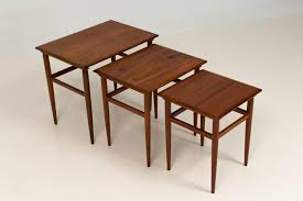 mid century modern danish nesting tables 1960s