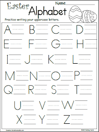 Practice Writing Letters Free Easter Letter Writing Practice Madebyteachers