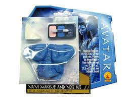 rubies costume avatar navi makeup and nose kit blue one size
