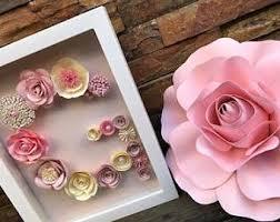 Paper Flower Frame Paper Flower Frame Etsy