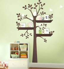 white tree wall decal with shelves shelving tree decal with birds shelving  tree wall decal wall