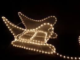 decorations reindeer and sleigh rope light led lights outdoor indoor