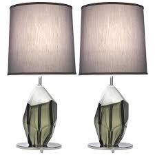 contemporary italian lighting. Plain Italian Don Contemporary Italian Pair Of Faceted Solid Rock Smoked Murano Glass  Lamps  Cosulich Interiors U0026 Throughout Lighting L