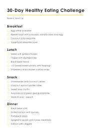 30 Day Healthy Eating Plan Thebyrdie30 Your 30 Day Healthy Eating Challenge