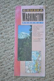 Washington State Mileage Chart Vintage Washington Maps 2 Washington State Maps 1972 Made By Texaco 1993 Made By Gousha