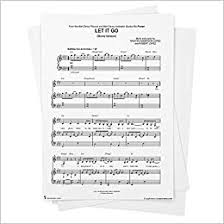 Let it go was performed by idina menzel, who plays the voice of the character queen elsa. Let It Go Movie Version Sheet Music From Frozen Piano Vocal Chords Singer Pro From Musicnotes Idina Menzel Frozen Kristen Anderson Lopez Amazon Com Books