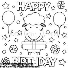 Happy Birthday Sheep Coloring Page 915 Coloring By Miki
