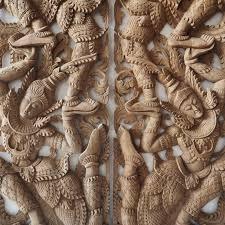 thai wood carving wall art uk