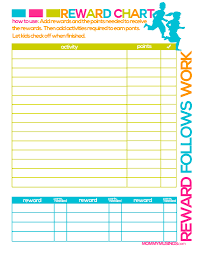 children rewards charts free printable kids chore rewards chart kids rewards free