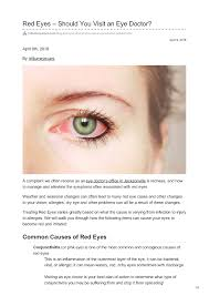 Red Eyes/Pink Eyes - Should You Visit an Eye Doctor |authorSTREAM