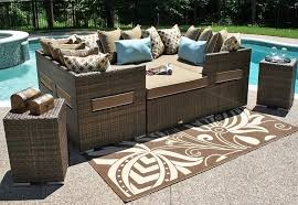 all weather wicker patio furniture daybed outdoor