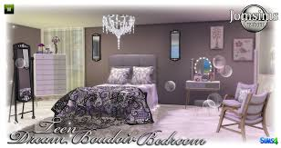 To Continue, With The Collection, Dream Boudoir. Here Is The Bedroom.  Still, In A Very Girly, Chic Style. With Bed, Bed Cover, Cushions For Bed,  Dresser, ...