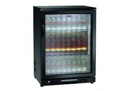 bar fridge 2 glass door 176l