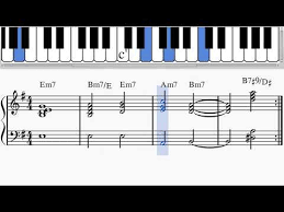 Am7 Piano Chord Chart Jazz Piano Sad Chord Progression Em7 Bm7 E Em7 Am7