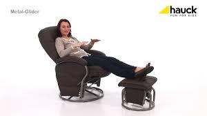 hauck reclining metal glider chair