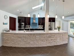 modern curved kitchen island. Kitchen With Stone Island Modern Curved D