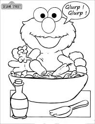 Small Picture Sesame Street Coloring Pages 2 Coloring page