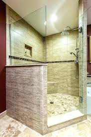 walk in shower with half wall shower wall material ideas lovely walk in shower ideas for walk in shower with half wall