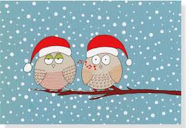 Christmas Cards Images Whistling Owls Small Boxed Holiday Cards Christmas Cards Holiday
