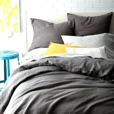 grey linen duvet amazing flax cover sham natural pottery barn for review