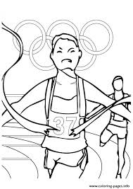 Track And Field Olympic Games Coloring Pages Printable