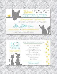 Pet Sitting Business Card Animal Business Card Pet Sitter