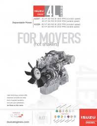 isuzu industrial diesel engines engines plus 4le2 sheet web page 1