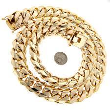 1 5 kilo miami cuban link chain 14k solid gold necklace for men 15 kilo