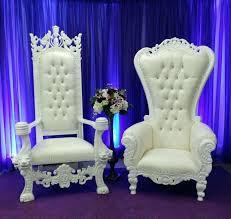 white throne chair al king and queen set als la where white wedding throne chairs