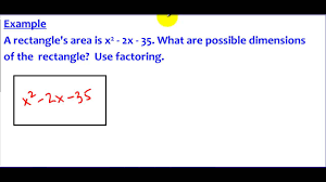 8 5 example 3 a word problem using factoring cherry hill math