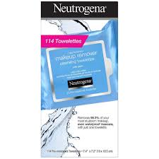 neutrogena makeup remover cleansing towelettes wipe face eye wet wipes