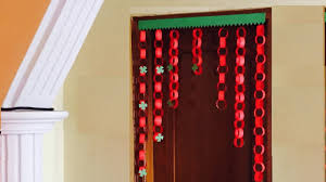 Paper garland Door Decor jhalar   DIY Door hanging decoration ...