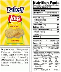 lays chips food label world of label in nutrition label for lays potato chips
