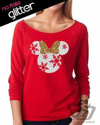 GLITTER Disney Christmas Holiday Snowflake Minnie Lightweight ...