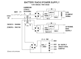 powering your antique battery radio a b c power supply schematic