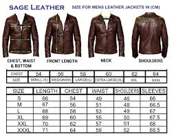 leather jacket size chart sageleather official website