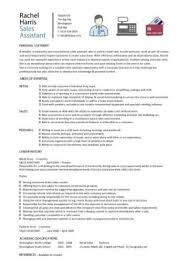 Cv Retail Sales Assistant Cv Example Shop Store Resume Retail