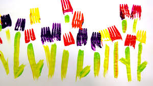 painting with forks easy activity for kids watch and learn creative ideas you