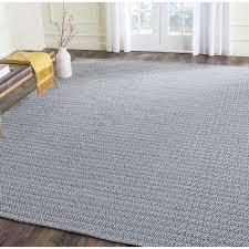 safavieh hand woven montauk ivory navy cotton rug 6 square