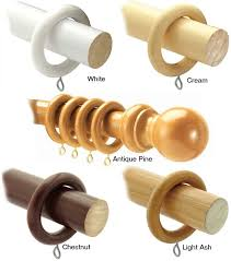 28mm county wooden curtain poles by sdy