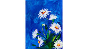Easy Painting Easy Daisy Acrylic Painting Tutorial With Ladybug Youtube