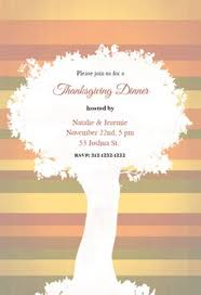 Thanksgiving Invites A Tree Free Thanksgiving Invitation Te 191722 Png