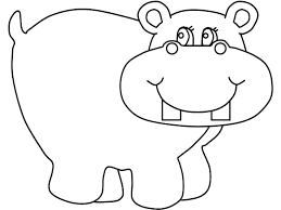Hippopotamus Coloring Page Baby Hippo Pages Creativeinfotechinfo