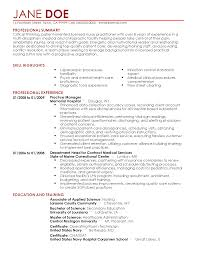 Registered Nurse Resume Example New Graduate Sample Family